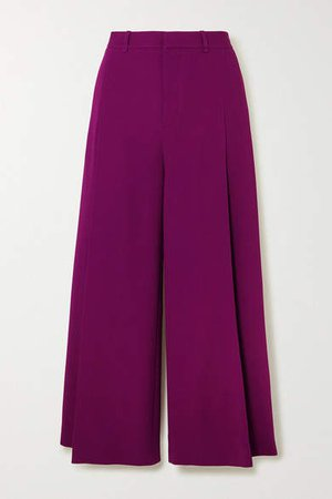 Liberty Stretch-crepe Wide-leg Pants - Purple