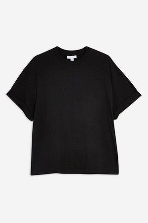 Boxy Roll T-Shirt | Topshop