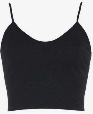 black crop tank top shirt