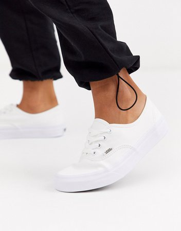 Vans Classic Authentic triple white sneakers | ASOS