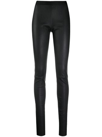 Shop black Ann Demeulemeester leather legging with Express Delivery - Farfetch