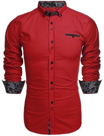 red dress up shirt