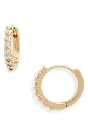 Nordstrom Crystal Huggie Hoop Earrings | Nordstrom