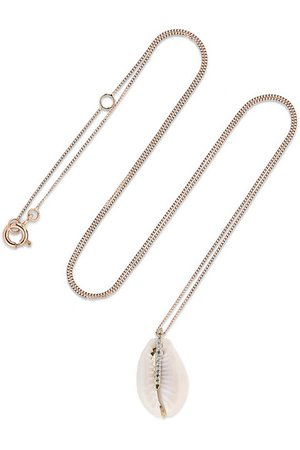 Pascale Monvoisin | Cauri 9-karat pink and yellow gold, porcelain and diamond necklace | NET-A-PORTER.COM