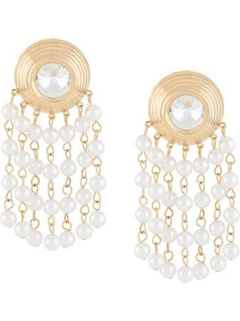 Alessandra Rich Pearl Drop Earrings - Farfetch