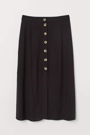 Skirt with Buttons - Black