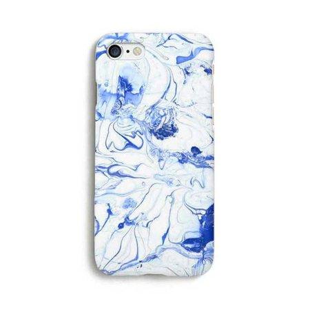 Bleu marbre iPhone iPhone Case 7 7 Case Plus iPhone 6 6 s 6 | Etsy