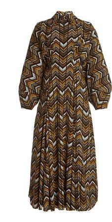 Emilia Wickstead Dannie Printed Crepe Midi Dress