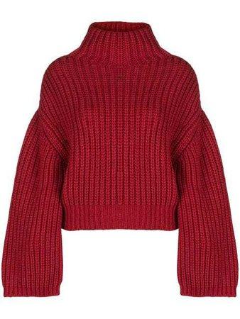 Lanvin Oversized turtle-neck Sweater - Farfetch
