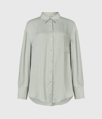 ALLSAINTS US: Womens Bernie Shirt (warm_white)