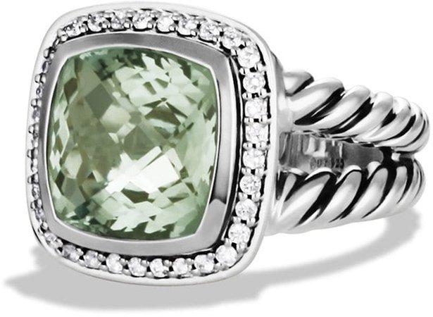 Albion Ring with Semiprecious Stone & Diamonds