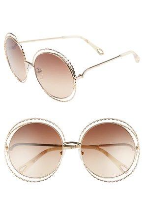 Chloé Carlina Torsade 58mm Round Sunglasses   Nordstrom