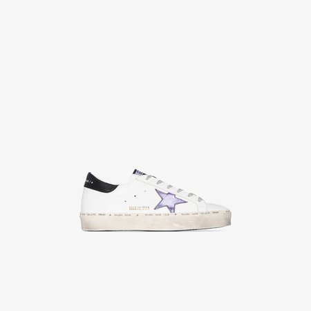White Hi Star Low Top Leather Sneakers