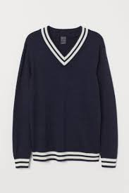 korean black v-neck sweater