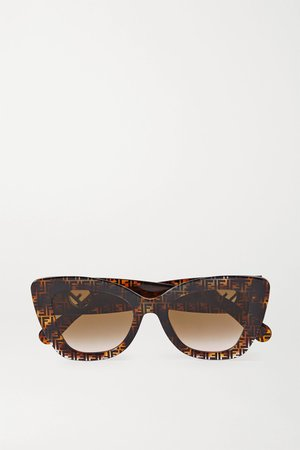 Tortoiseshell Cat-eye tortoiseshell acetate sunglasses | Fendi | NET-A-PORTER