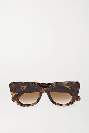 Tortoiseshell Cat-eye tortoiseshell acetate sunglasses | Fendi | NET-A-PORTER