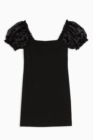 Black Organza Mini Dress | Topshop