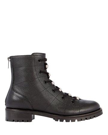 Jimmy Choo   Bren Crystal-Embellished Combat Boots   INTERMIX®