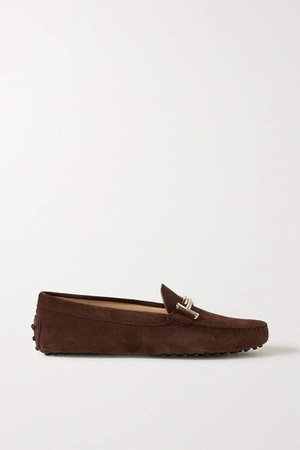 Gommino Suede Loafers - Dark brown