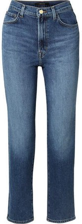 Jules High-rise Straight-leg Jeans - Mid denim