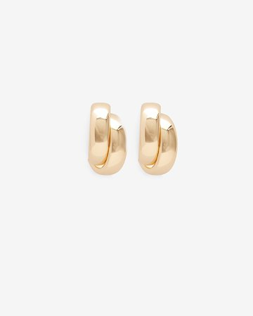 Small Twisted Hoop Earrings | Express