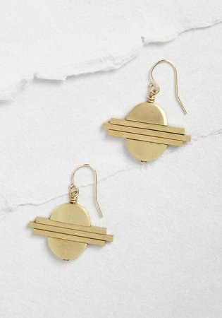 Circles and Such Dangle Earring Gold | ModCloth