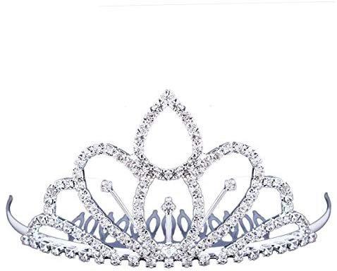 Amazon.com: Stuffwholesale Mini Tiara Hair Comb Rhinestone Crystals Flower Girl Princess Crown Headwear (#12): Health & Personal Care