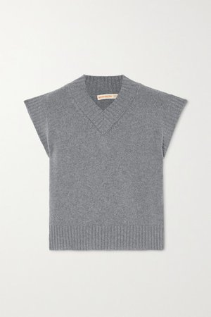 Bonnie Merino Wool And Cashmere-blend Tank - Gray
