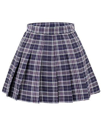 DAZCOS US Size Plaid Skirt High Waist Japan School Girl Uniform Skirts at Amazon Women's Clothing store