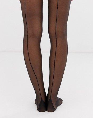 Gipsy french back seam tights | ASOS