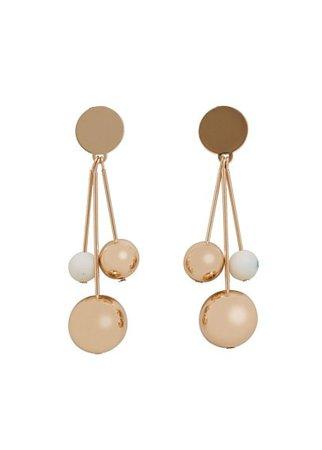 MANGO Metal pendants earrings