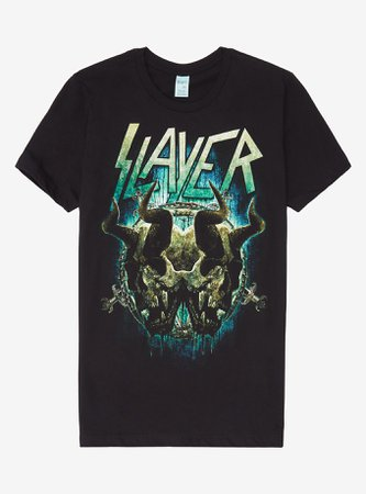 *clipped by @luci-her* Slayer Double Skull T-Shirt