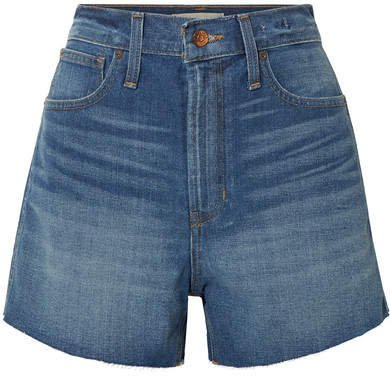 The Perfect Vintage Frayed Denim Shorts - Light denim