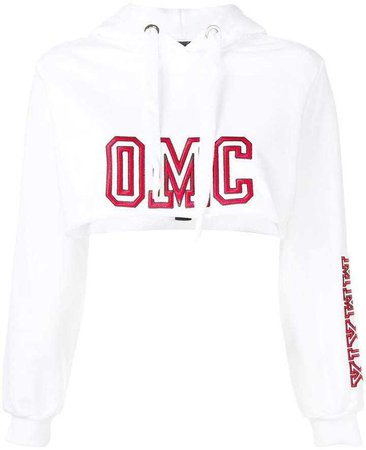 Omc cropped logo hoodie