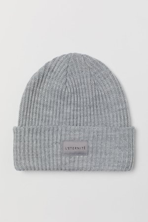 Rib-knit Hat - Light gray melange - Ladies | H&M US