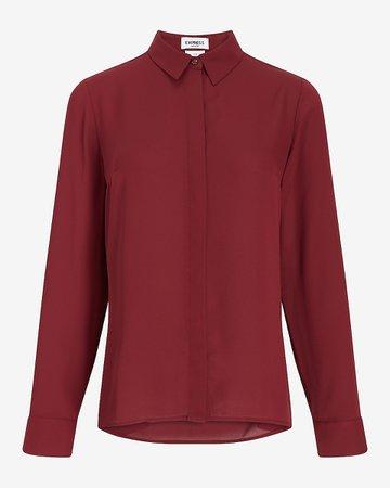 Solid Portofino Shirt | Express