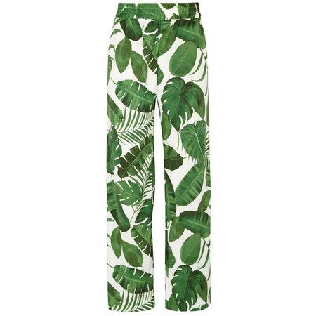 mostera leaf print pants