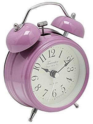 retro purple alarm clock