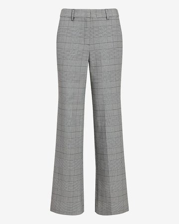 High Waisted Plaid Trouser Pant