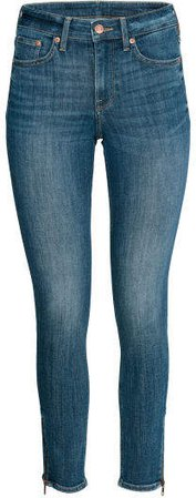 Skinny Regular Zip Jeans - Blue