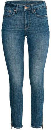 Skinny Regular Zip Jeans - Blue