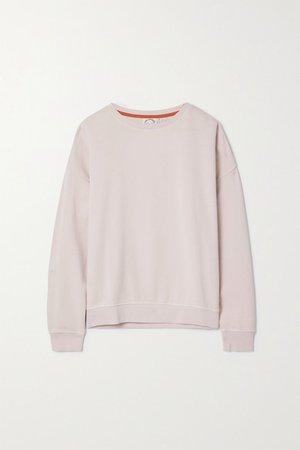 Alena Cotton-jersey Sweatshirt - Pink