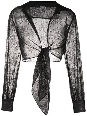 Ermanno Ermanno Lace tie-waist Shirt - Farfetch