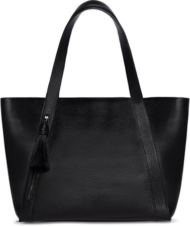 Alexa Genuine Horsehair Tassel Convertible Leather Tote