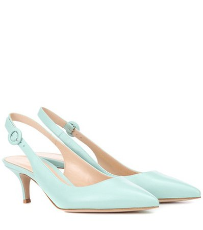 Exclusive to mytheresa – Anna leather slingback pumps