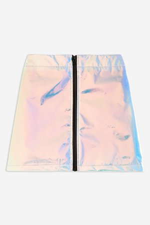 **Blue Hologram Skirt by Jaded London | Topshop