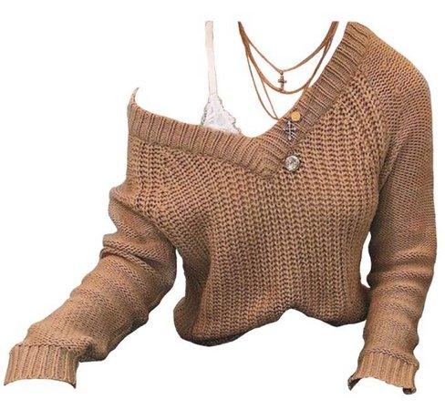 tan sweater png