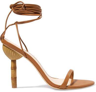 Luna Leather Sandals - Brown