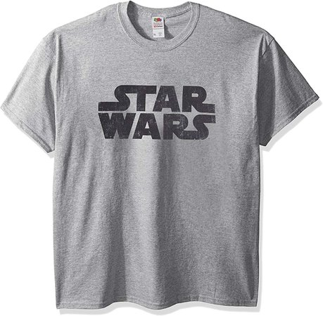 Amazon.com: Star Wars Men's Simplest Logo Graphic Tee, Athletic Heather, Small: Clothing