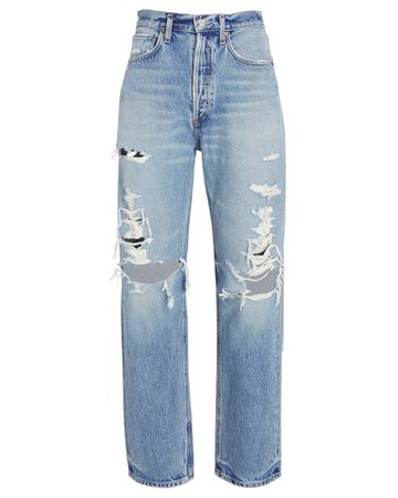 AGOLDE 90s Loose Distressed Jeans   INTERMIX®